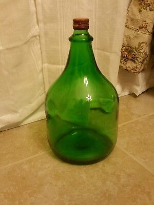 Vintage Reunite Green Empty Wine Bottle Old Italia Marchio Nazionale