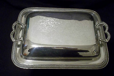 Vintage Silver Plate on Copper Covered Serving Dish Small