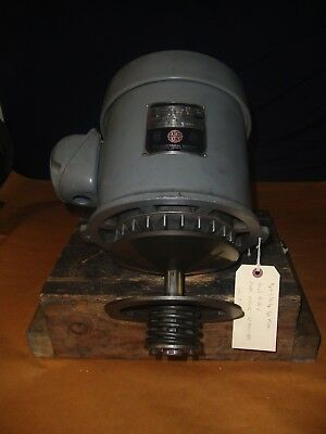 BRIDGEPORT 1-1/2HP 3PH 2J-HEAD SPINDLE DRIVE MOTOR  w/PULLEY