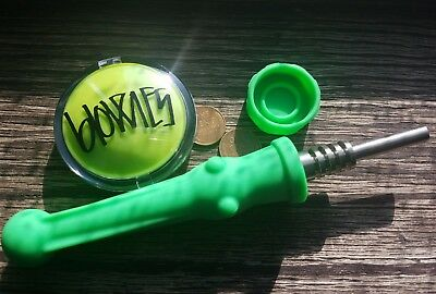 Green /  / Silicone Straw Set / 14mm Silicone Nectar Collector Kit*