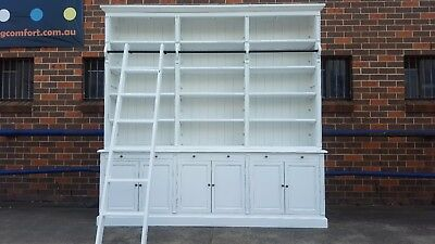 New French Provincial Library Bookcase Shelf Kitchen Buffet Cabinet (111-267)