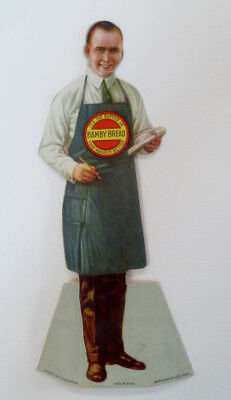 "1925 Advertising Cardboard 8 ¾"" Cutout Bamby Bread Company"