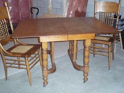 Antique Oak Drop-Leaf Table
