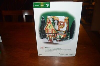 2002 Department 56 North Pole Series Mcelfin's Restaurant & Gifts