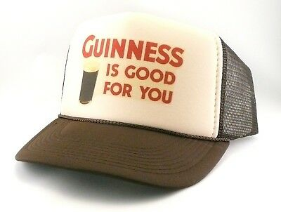 Guinness Beer Trucker Hat mesh hat snapback hat Tan brown it s good for you  hat c97811c81059
