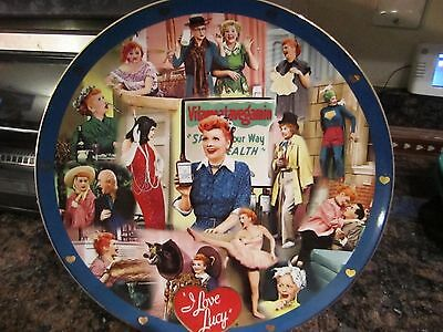 2003 I Love Lucy Lucille Ball Danbury Mint Rare Collector Tribute Plate COA