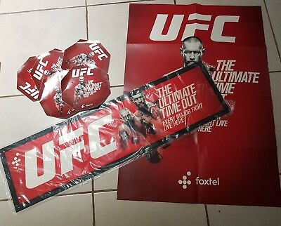 BRAND NEW UFC Bar Runner Mat Conor Mcgregor Georges St-Pierre Poster stickers