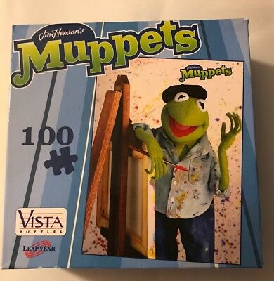 Jim Henson's The Muppets Kermit The Frog 100 Piece Puzzle Vista New Sealed