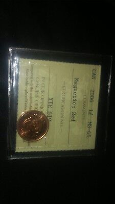 2006 ICCS 1 cent Magnetic Red Canada one penny SCARCE