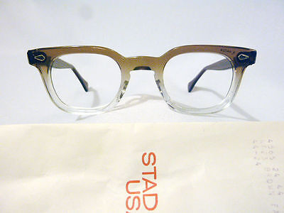 Vintage American Optical Hybrid Stadium Brown 44/24 Men's Plastic Eyeglass Frame