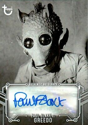 2018 Star Wars A New Hope Black White B&W Paul BLAKE as GREEDO Autograph Auto