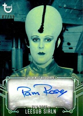 2018 Star Wars Black White B&W Pam ROSE as LEESUB SIRLN Auto BLUE Parallel /99