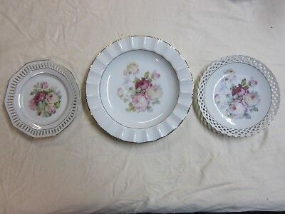 Schumann Bavaria Germany Antique Rose Plates & SCHUMANN Arzberg Germany Plate - \
