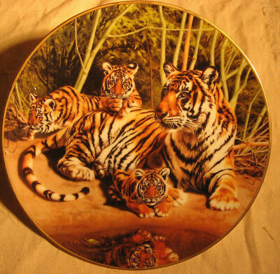 Bradford  Exchange Collector Plate TOMORROW'S HOPE 1st in series TIGERS