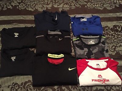Nike Pro Combat, Under Armour Mixed Lot Of 8 Mens Med Shirt  Fitted Long Sleeve