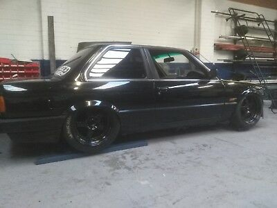 BMW e30  race drag custom tubbed burn out show race ls ls1 twin turbo v8 muscle