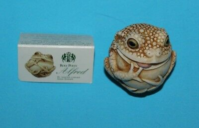 Harmony Kingdom Adam Binder Roly Poly Alfred Marble Resin UK Made Cute Frog