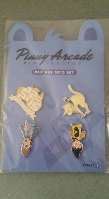 Pinny Arcade Pax Aus 2013 Pin Set Sold Out New & Sealed Penny Arcade