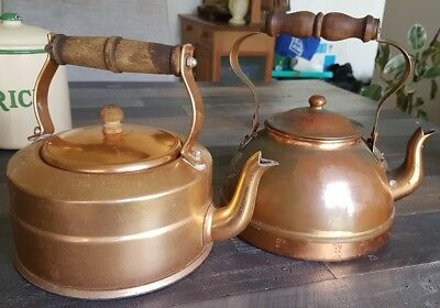 vintage portugese copper kettles Tagus brand