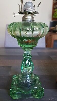 depression glass kerosene lamp base