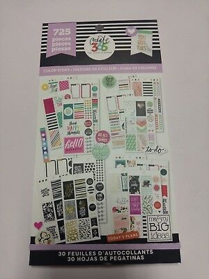 Create 365™ The Happy Planner™ Color Way Value Pack Stickers 725 NEW