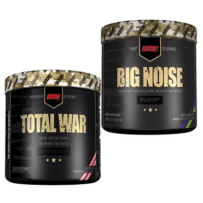 Redcon1 Total War + Big Noise Pre Workout Stack Pump Energy Focus