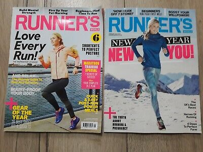 Runner's World January and February  2018 Bundle New