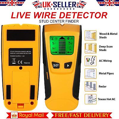 3 in 1 Live Wire Detector Stud Wood Wall Center Scanner Finder Metal AC Tool Kit
