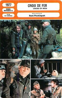 FICHE CINEMA FILM GB CROIX DE FER / CROSS OF IRON Réalisateur Sam Peckinpah