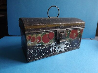 Antique Toleware Domed top Document Box -new price-