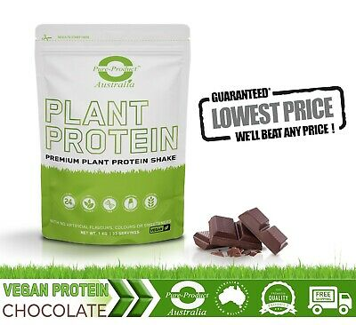 1Kg Vegan Protein Powder Chocolate Pea And Rice Protein