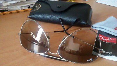 OCCHIALI RAY BAN RB 3407 AVIATOR OUTDOORSMAN ORIGINALI grigio marrone sfumato