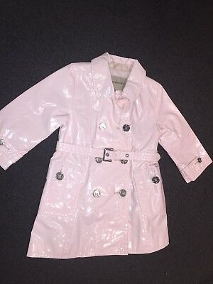 BURBERRY Baby Girls Pink Trench Jacket