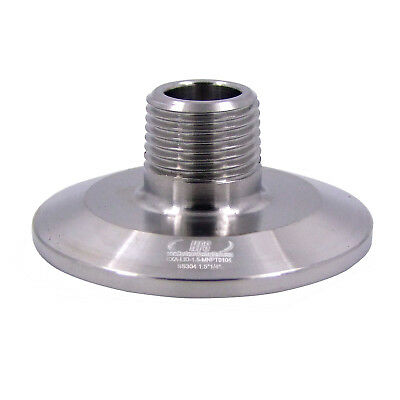 "HFS (R) 1.5"" Sanitary Tri LID WITH MALE NPT 1/4"" NPT Female Tri Clover"