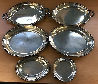 Vintage Bundle / Mixed Lot of Silverplate Serving Platters