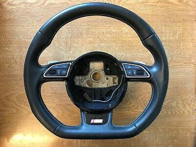 Audi Flat Bottom Steering Wheel Dsg A3/s3 Multifunction Paddle Shift 2012-2017