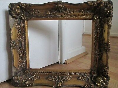 Stunning Ornate Distressed Gilt - Gesso Foliage Frame for Picture Painting