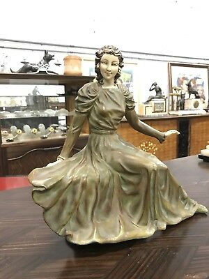 Monumental French Art Deco Body Girl Sculpture   Circa 1940s. AS IS