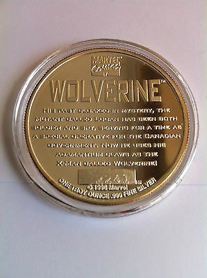 1996 Marvel Comics Collection Wolverine Silver Medallion The Highland Mint