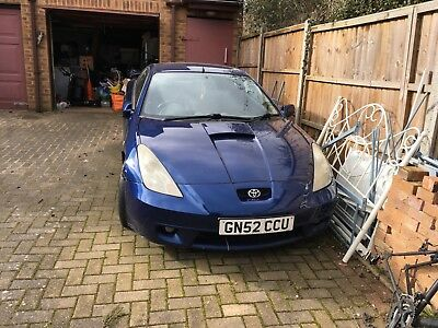 Toyota Celica 2002 Vvti Blue Runs Well Some Damage To Front Wing