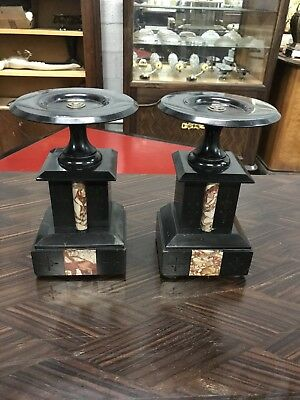 Monumental French Antique Napoleon lll Urns Marble Circa 1895s. AS IS
