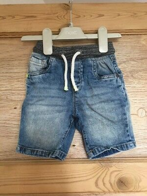 Baby Boys Denim Shorts By Next To Fit 18-24 Months