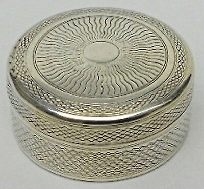 Antique French  Solid  Silver 950(Export)Box  Pill B0x-1930s