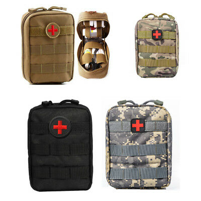 TACTICAL FIRST AID Kit Bag Medical Molle EMT Outdoor Emergency Survival  Pouch