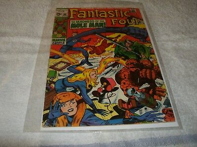 marvel silverage comic  fantastic four  no.89.  scarce in this high grade