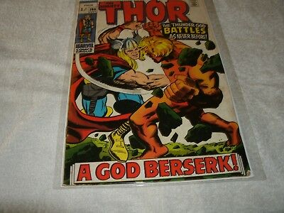 marvel silverage comic  the mighty thor no.166.  scarce in this high grade