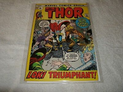 marvel silverage comic  the mighty thor no.194. scarce in this high grade