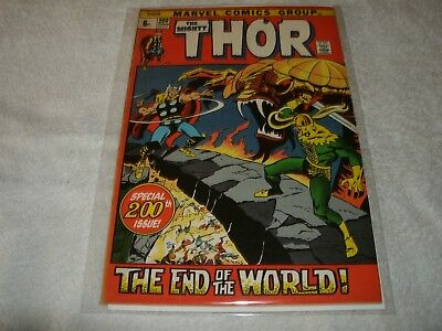 marvel silverage comic  the mighty thor no.200. scarce in this high grade