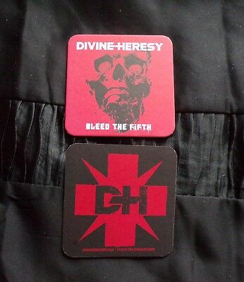 Divine Heresy 'Bleed The Fifth' Promo 9.5cm Square Coaster