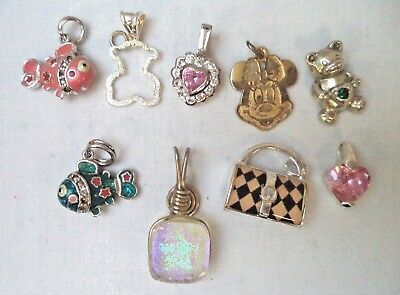 Stunning Vintage Estate Signed 925 Sterling Silver Pendant Lot!!!!! 8595R